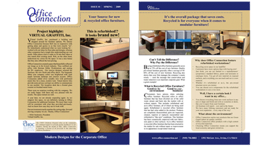 Office Furniture Newsletter