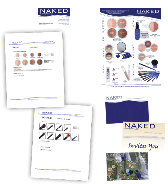 Naked Minerals graphic design materials